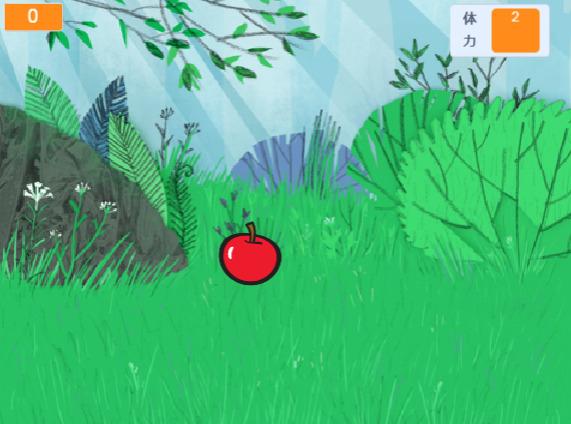 りんごキャッチゲームを作りました!1